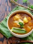ホロホロ手羽元のカレースープ
