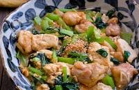 鶏肉と豆腐小松菜の炒め煮