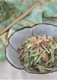 『焼き豚とくらげの簡単中華風酢の物』