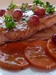 豚肉のポワレ葡萄ソースがけ