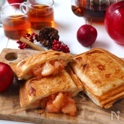 オーブン不要!新感覚☆パリパリッ焼きアップルパイ