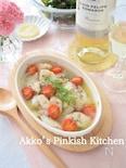 タラとトマトのグリル煮込み ディル風味