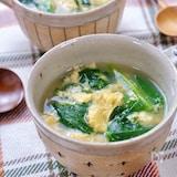 ほっこり美味しいスープ♡『ほうれん草と卵のスープ』