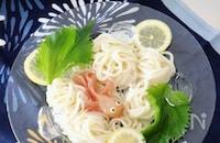 夏の麺に【簡単】かわいい♡生ハム金魚