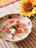 真夏の!冷たい豆乳味噌汁