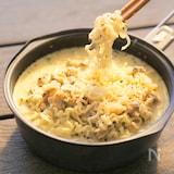 ボンゴレ豆乳クリーム麺