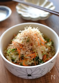 『カリカリじゃこの白菜サラダ【作りおき】』