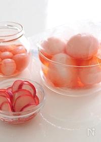 『すし酢で簡単♪ピンク色の卵の甘酢漬け★ひな祭り』