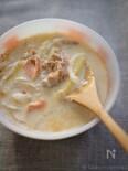 塩鮭のミルクスープ