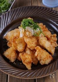 『【さっぱり旨い】鶏むね肉のおろしポン酢から揚げ #大葉香る』