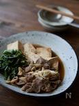 春菊たっぷり肉豆腐