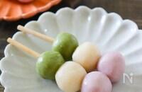 豆腐と米粉で♪三色団子!ひな祭りにも♪