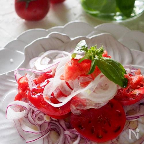 【冷凍トマトが美味しい】♡ヘルシートマトづくしのサラダ♡