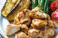 楽うま!『夏野菜と鶏むねの味噌炒めプレート』