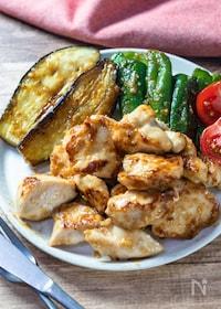 『楽うま!『夏野菜と鶏むねの味噌炒めプレート』』