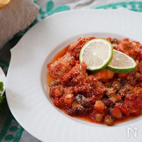 メキシカン風チキンのトマト煮込み