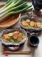 ねぎの鮭味噌だれホイル焼き