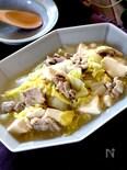 ちぎり木綿豆腐と豚こまと白菜のうま塩煮