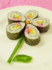 朝飯前で可愛く出来る!お花の巻寿司。