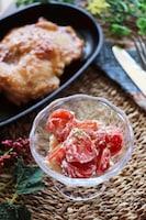 やみつきの美味しさ♡ミニトマトの洋風クリームチーズ和え