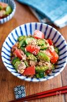 【夏野菜とツナの中華サラダ】ごま油香る♬︎ 夏の副菜♡