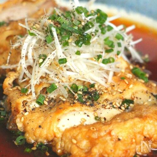 チキン南蛮  香味だれ(動画あり)