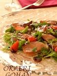 鰤と苺のハニーマリネサラダ