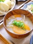 玉ねぎと人参のお味噌汁
