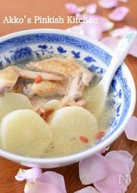 『鶏手羽先と大根の薬膳スープ(圧力鍋レシピ)美肌効果抜群♡』