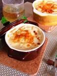 豆腐ホワイトソースでヘルシー♪さつまいも入りパスタグラタン♡