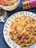 スパムde簡単♡たまらん味♡スパムと卵のペッパーランチ♡