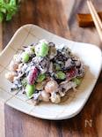 簡単なのに栄養豊富!『ひじきとお豆のデリ風ツナマヨサラダ』