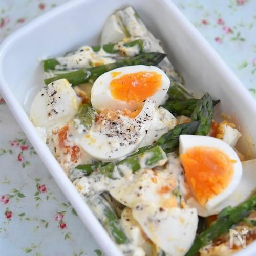 アスパラと卵のデリ風サラダ