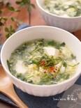 豆苗とくずし豆腐のかき玉中華スープ*風邪ひきさんにも*