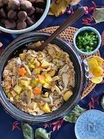銀杏とキノコの炊き込みご飯