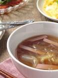 ハムとキャベツのスープ春雨