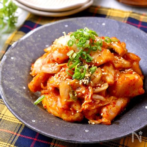 鶏むね肉で簡単節約♡『鶏キムチ』下味冷凍で選べる4つの味付け