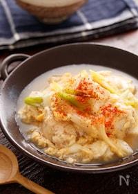 『鶏たま肉豆腐』