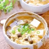 和風仕立て♪『豆腐としめじのたまごスープ』