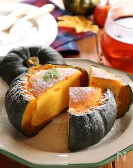 丸ごとかぼちゃのベイクドチーズケーキ