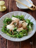 オクラとなめこのお豆腐サラダ。