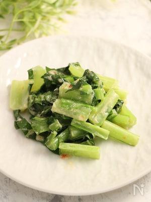 レンジで簡単!小松菜のスイチリマヨ和え