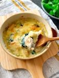 濃厚とろ~り♪鮭とほうれん草の豆乳グラタン