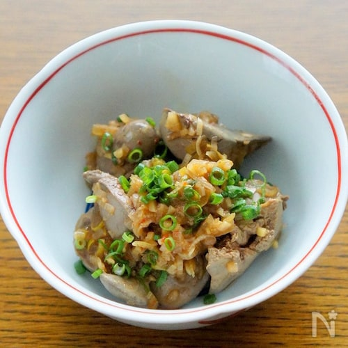 鶏レバーの中華香味野菜煮
