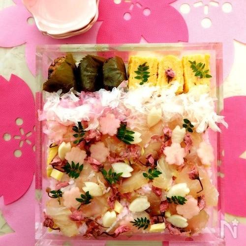 春爛漫♪ 鯛のさくら寿司でお花見弁当