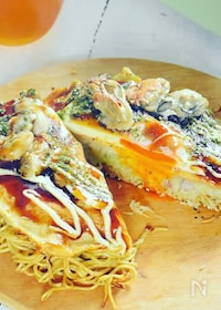 『牡蠣の広島風お好み焼き』