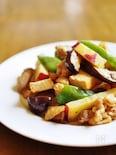 鶏肉と秋野菜の生姜醤油炒め