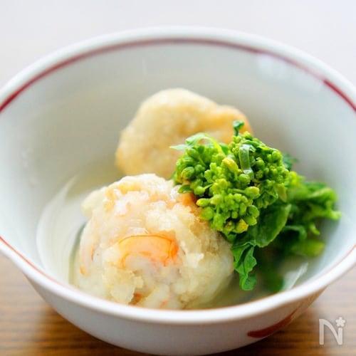 里芋と海老の餡かけ