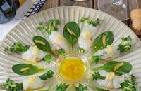 【ゆずで爽やか】鯛に合う白だしソースのフラワーカルパッチョ