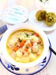 【ヨーロッパのおそうざい】 鮭とじゃがいもの北欧風スープ